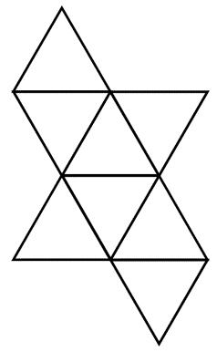 octahedron net image