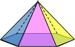 3d hexagonal pyramid image
