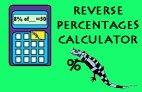 Reverse Percentage Calculator image