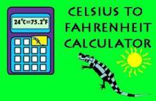 Celsius to Fahrenheit Calculator Tyger Measuers Salamander