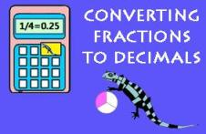 Converting Fractions to Decimals Calculator picture