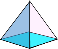 3d square based pyramid image