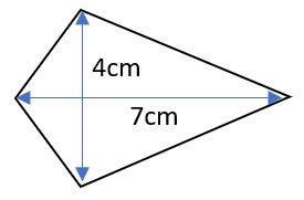 area of kite example 1