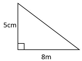 area of right triangle example 1