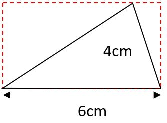 area of right triangle example 3