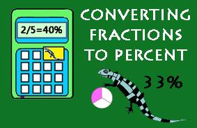 Convert fractions to percentages Picture