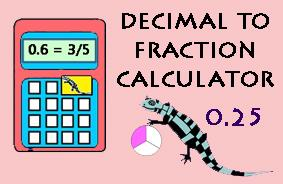 Decimal to Fraction Calculator