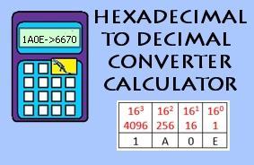 Hexadecimal to Decimal Converter image