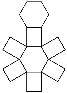 hexagonal prism net image