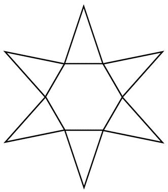 hexagonal pyramid net image