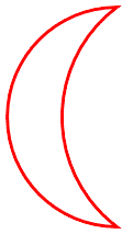 list of geoemtric shapes crescent