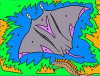 Printable Coloring Worksheets Newton and Devil Fish image