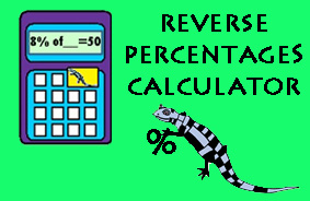 Reverse Percentage Calculator image
