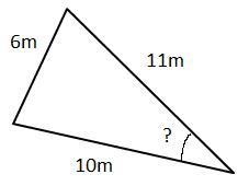 how to find an angle given three sides