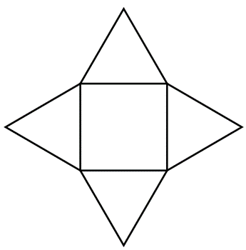 square based pyramid net image