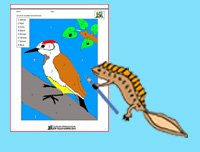 Color By Number Pages Newton and Woodpecker image